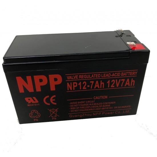 Akumuliatorius 12V 7Ah NPP T1(F1) Pb AGM