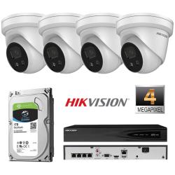 Hikvision 4 IP kamerų 4MP vaizdo stebėjimo sistema IPkit4