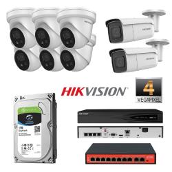 Hikvision 8 IP kamerų 4MP vaizdo stebėjimo sistema IPkit7
