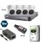 5 MP Keturių dome kamerų TURBO HD komplektas