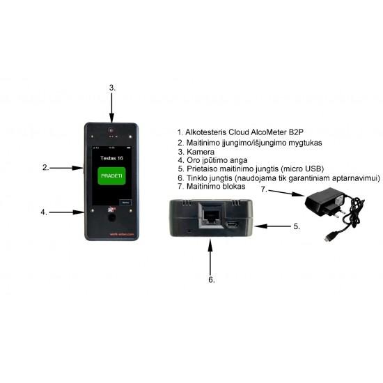 Daugiafunkcinis alkotesteris Cloud AlcoMeter B2P