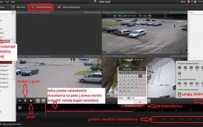 Hikvision iVMS-4200 įrašo peržiūra