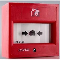 FD7150 UniPos adresinis rankinis pavojaus mygtukas su izoliatoriumi