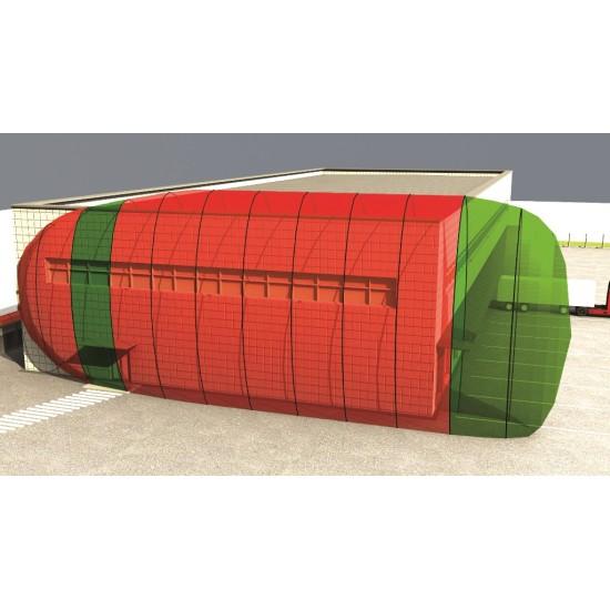 Apsauginis Mikrobanginis perimetro barjeras Forteza FM-30 (24) Curtain vienos pozicijos detektoriai