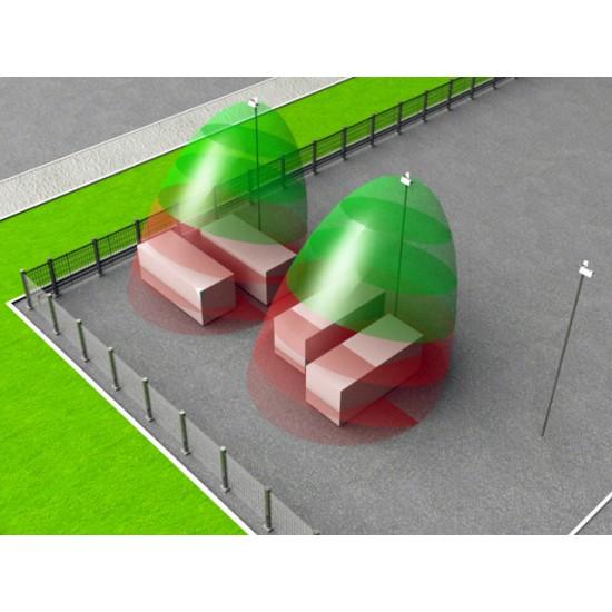 Apsauginis Mikrobanginis perimetro barjeras Forteza FM-30 (24) Fan vienos pozicijos detektoriai
