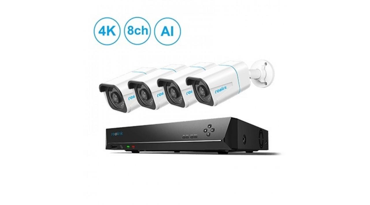 Reolink RLK8-810B4-A Išmanusis 4K kamerų rinkinys su atpažinimo funkcija