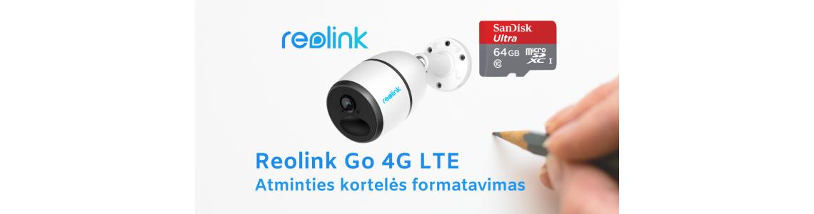 Reolink GO 4G LTE atminties kortelės formatavimas