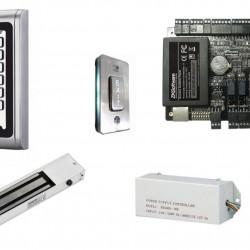 Praėjimo kontrolės komplektas S-600W ir ZkTeco C3-100 su spyna (su apskaita)