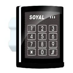 Soyal AR-888H įleidžiamas durų valdiklis su klaviatūra ir atstuminių kortelių skaitytuvu, 125kHz