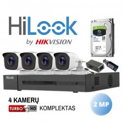 2MP Keturių Turbo HD kamerų komplektas