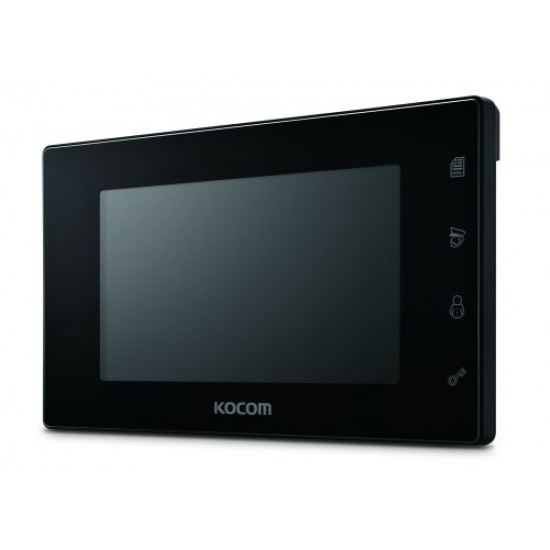 KOCOM KCV-504 spalvotas 7'' LCD monitorius telefonspynei, juodas, 230V