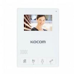 KCV-434SD spalvotas 4,3'' monitorius telefonspynei, baltas, su atmintimi, 230V.