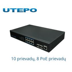 UTEPO kartototuvas 10 prievadų, 8 PoE prievadų UTP3-GSW0802S-MTP150