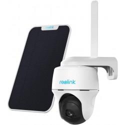 Bevielė valdoma kamera Reolink Go PT + saulės baterija (balta)