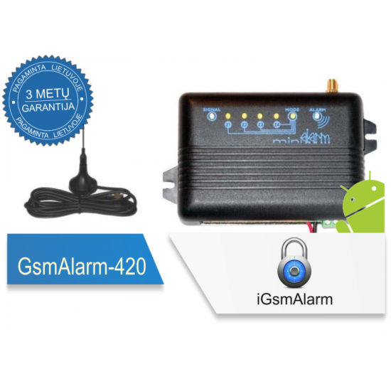 GSM apsaugos ir valdymo centralė GSMALARM-420