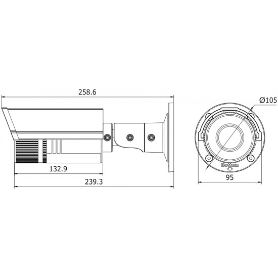 DS-2CD2642FWD-IZ F2.8-12 Hikvision 4MP skaitmeninė lauko kamera