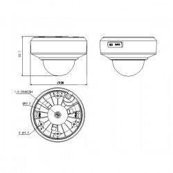 DS-2DE2202-DE3/W F3.6-8.6 Hikvision 2MP skaitmeninė vidaus kamera