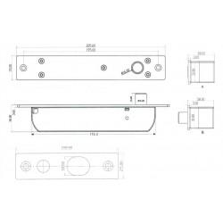YB-700A(LED) Strypinė elektromechaninė spyna