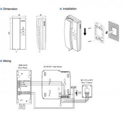 KDP-602G Kocom papildomas ragelis