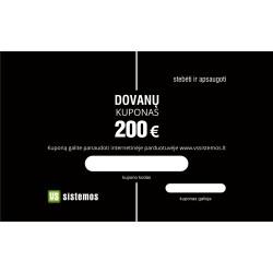 200 eur. vertės Dovanų kuponas