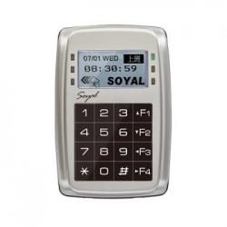 Soyal AR-327H-V5 durų valdiklis su klaviatūra ir atstuminių kortelių skaitytuvu, su displėjumi, metalinis korpusas, 125kHz