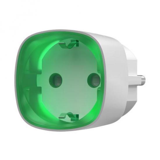 Ajax Socket išmanusis kištukinis lizdas su energijos taupymu (baltas)