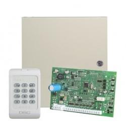 DSC KIT04-1WENG Centralė PC1404 su klaviatūra PC1404RKZ ir dėže