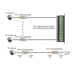 PTF-1-ECO/PoE/DIN apsauga nuo viršįtampių ECO serija IP su PoE su DIN montavimu