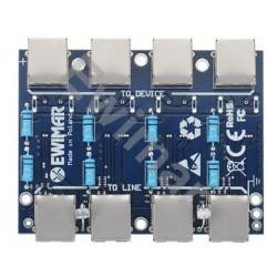 PTF-4-EXT/PoE Universalus viršįtampių filtras EXT serijos modulis skirtas IP su PoE