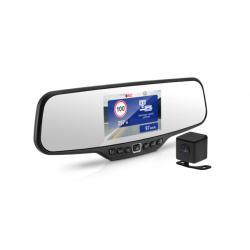Registratorius veidrodyje ir galinio vaizdo kamera NEOLINE G-TECH X27 su GPS duombaze apie policijos radarus