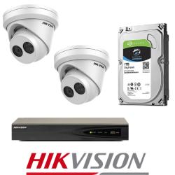 Hikvision 2 IP kamerų vaizdo stebėjimo sistema IPkit2