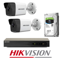 Hikvision 2 IP kamerų vaizdo stebėjimo sistemos komplektas IPkit1