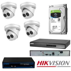 Hikvision 4 IP kamerų vaizdo stebėjimo sistema IPkit4