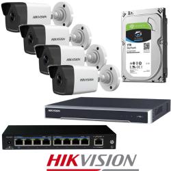 Hikvision 4 IP kamerų vaizdo stebėjimo sistema IPkit5