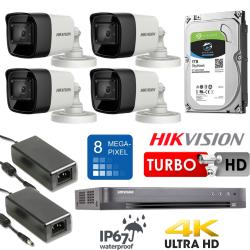 8Mpix 4-ių Turbo kamerų vaizdo stebėjimo sistema TurboKit3
