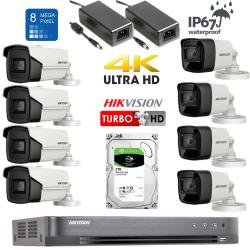 8Mpix Turbo kamerų vaizdo stebėjimo sistema TurboKit4
