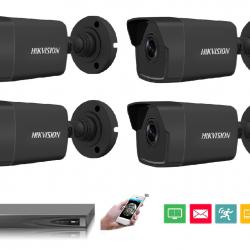 4 IP kamerų vaizdo stebėjimo sistema IP4black