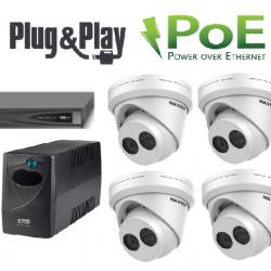 High-End 8Mpix kamerų vaizdo stebėjimo sistema IP9