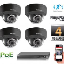 4 IP kamerų vaizdo stebėjimo sistema IP4