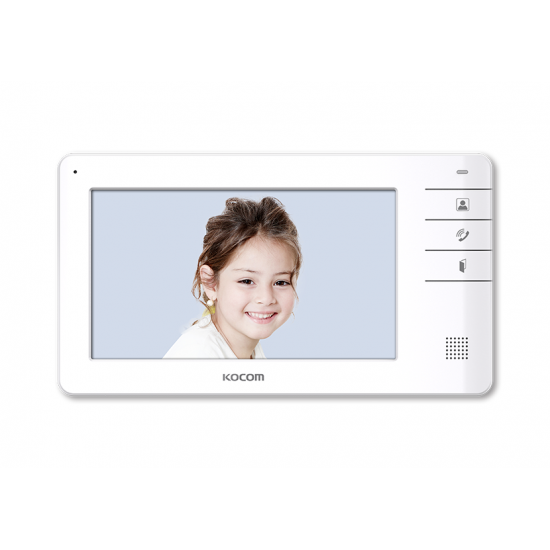 KCV-S701EB(DC) spalvotas 7'' LCD monitorius telefonspynei, baltas, 12V DC