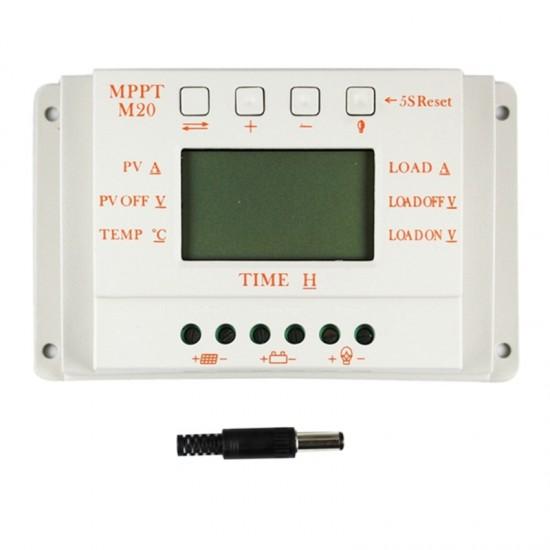 MPPT 20A LCD saulės baterijų įkroviklio valdiklis 12 V 24 V