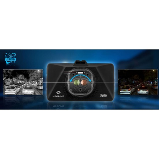 Neoline Wide S39 vaizdo registratorius su NightVision aktyviu šviesos filtru