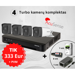 5MP TurboHD 4 kamerų komplektas