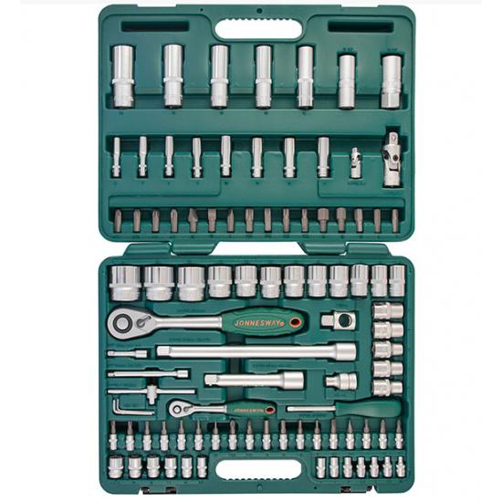 Įrankių komplektas 1/4″DR 4-14 mm ir 1/2″DR 10-32 mm, 94 vnt. Jonnesway